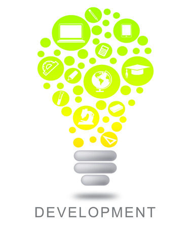 regeneration: Development Lightbulb Meaning Growth Progress And Evolution