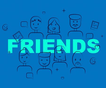 buddies: Friends Together Meaning Group Buddies And Friendship