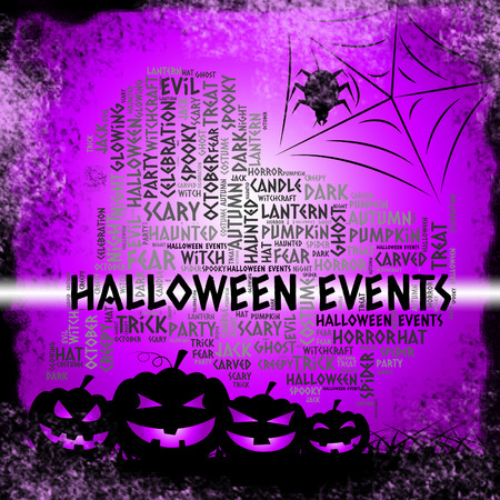 Halloween Events Representing Function Ceremony And Occasions Stock Photo