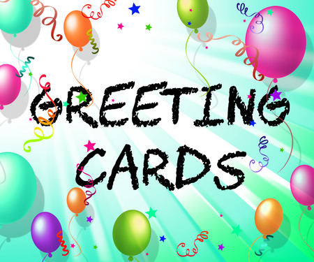 Greeting Cards Representing Celebrate Greetings And Party