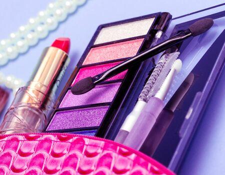 lip stick: Eye Shadow Showing Makeup Kit And Makeups