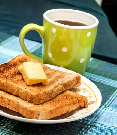 meal time: Butter Toast Showing Meal Time And Slice