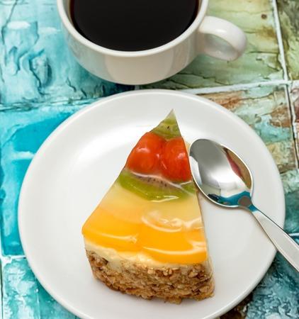 gateau: Coffee And Gateau Showing Coffees Celebration And Indulgence