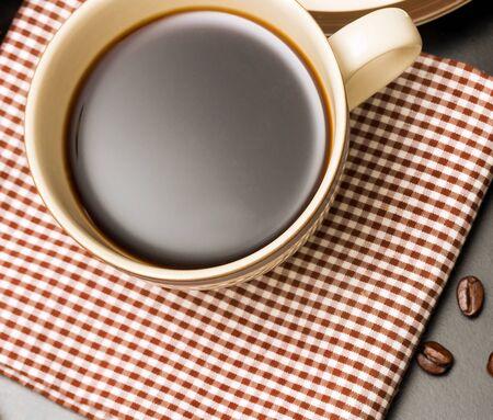 cafeterias: Black Coffee Break Representing Cafeterias Restaurant And Caffeine