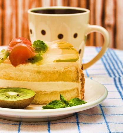 indulgence: Cream Cake Coffee Meaning Decaf Indulgence And Delicious