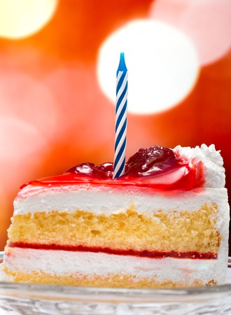 gateau: Birthday Cream Cake Representing Party Desserts And Parties