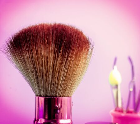 makeups: Foundation Makeup Brush Indicating Beauty Product And Cosmetology
