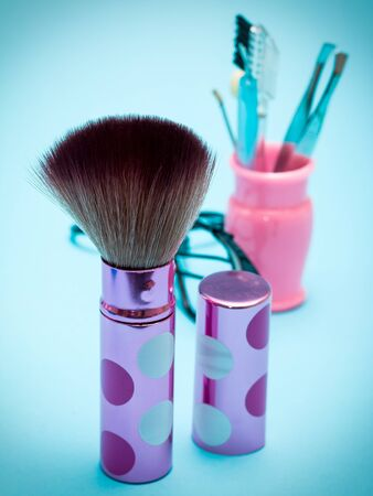 makeups: Makeup Foundation Brush Meaning Beauty Products And Make-Ups Stock Photo
