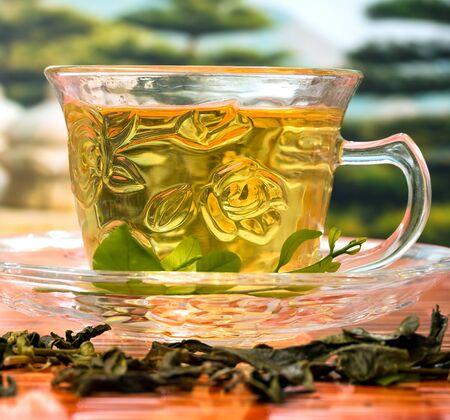 japanese green tea: Japanese Green Tea Indicating Health Wellness And Healthy