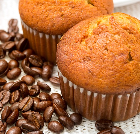 hot coffees: Coffee Cakes Representing Hot Drink And Caffeine