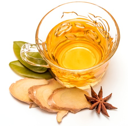 ginger tea: Healthy Ginger Tea Showing Refresh Herbals And Teas