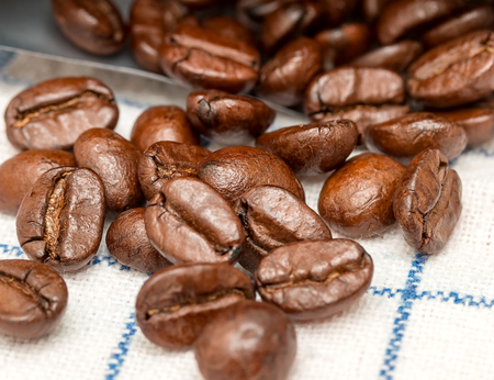 hot coffees: Coffee Beans Showing Beverage Seed And Drink