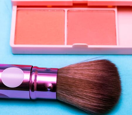makeups: Makeup Brush Representing Beauty Product And Cosmetology