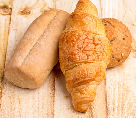 stuff: Organic Rolls Representing Food Stuff And Baked