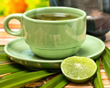 Lime Green Tea Meaning Drinks Refreshing And Cafeterias