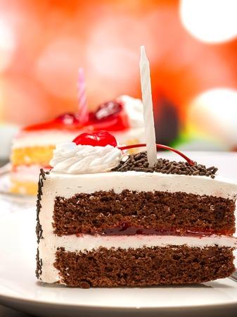 gateau: Black Forest Gateau Meaning Chocolate Cake And Celebrate Stock Photo