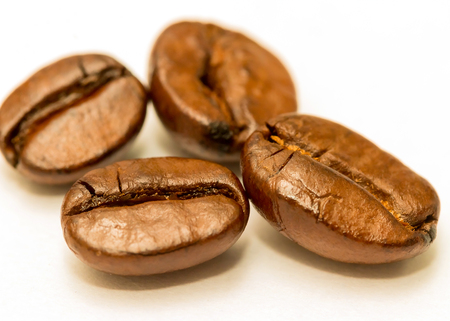 hot coffees: Roasted Coffee Bean Representing Hot Drink And Restaurant