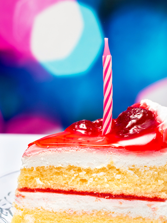 delectable: Strawberry Birthday Cake Indicating Celebrates Creamy And Delectable