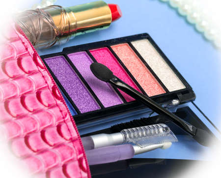 makeups: Makeups And Lipstick Showing Eye Shadow And Facial