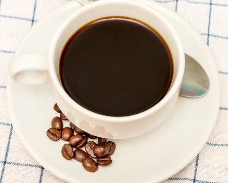 hot coffees: Coffee Beans Drink Indicating Restaurant Gourmet And Freshness