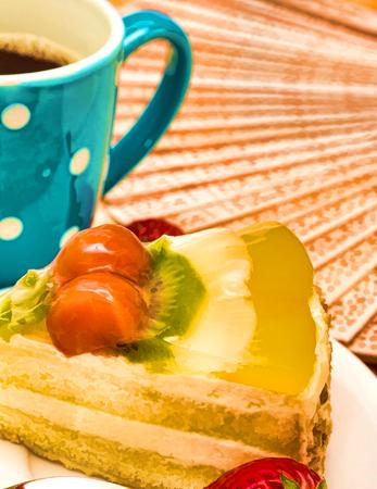 gateau: Fresh Strawberry Cake Showing Indulgence Sweet And Tasty