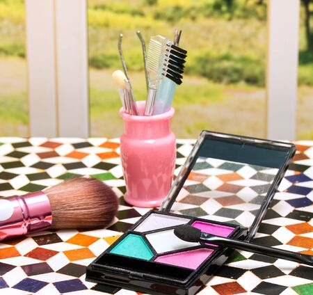 makeups: Makeup Kit Meaning Beauty Product And Pouch
