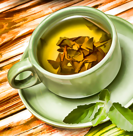 refreshes: Mint Tea Refreshment Showing Drinks Fruits And Cafes Stock Photo