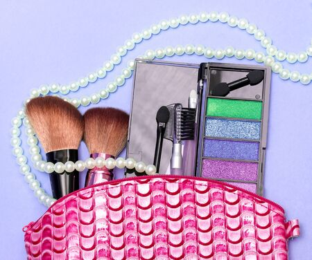 makeups: Makeup Kit Showing Soft Brush And Accessory