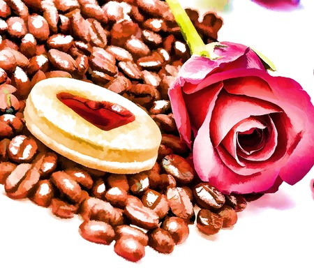 decaf: Coffee Beans Drink Representing Roast Roasted And Decaf Stock Photo