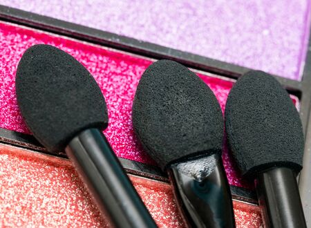 eyeshadow: Makeup Brush Meaning Beauty Product And Eyeshadow Stock Photo