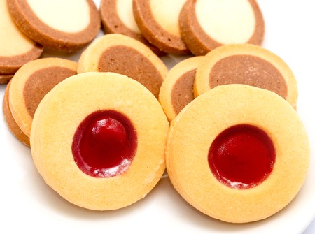 delectable: Delicious Biscuits Indicating Some Cookies And Delish Stock Photo
