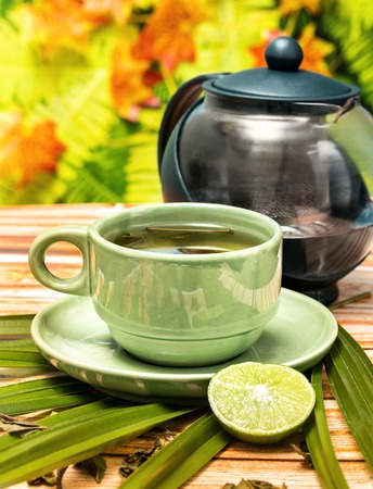 refreshes: Lime Green Tea Meaning Citrus Refreshment And Teas