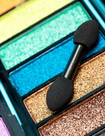 makeups: Eye Shadow Makeup Indicating Soft Brush And Cosmetic