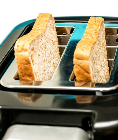 meal time: Bread Toaster Representing Meal Time And Food