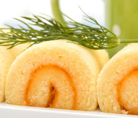 gateau: Swiss Rolls Showing Delicious Cake And Gateau