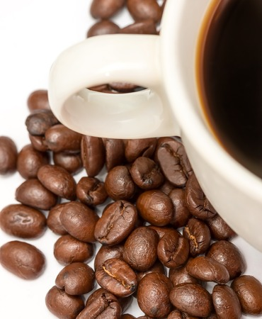 hot coffees: Coffee Beans Showing Hot Drink And Caffeine
