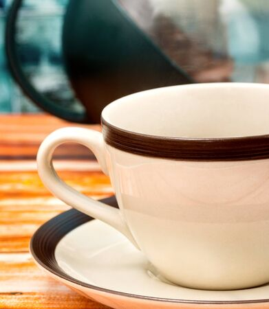 Green Tea Cup Representing Beverage Cafeterias And Drink Stock Photo