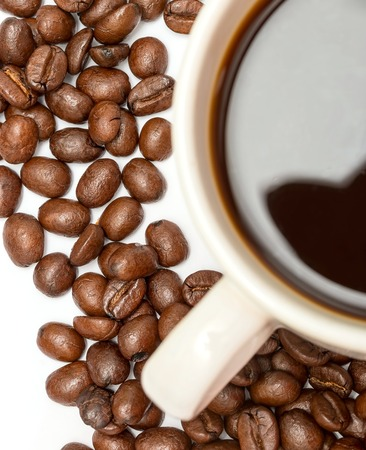 hot coffees: Coffee Beans Representing Hot Drink And Brown