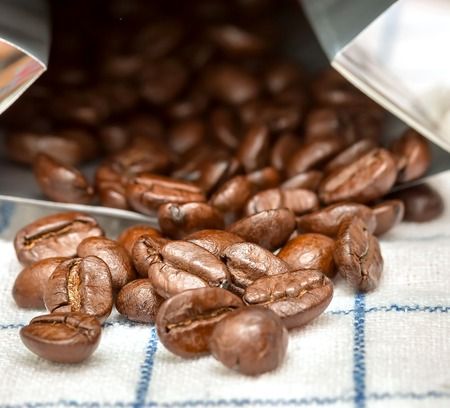 hot coffees: Coffee Beans Indicating Hot Drink And Roasted Stock Photo
