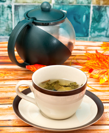 refreshes: Cup Of Tea Meaning Refreshing Restaurants And Cafe Stock Photo