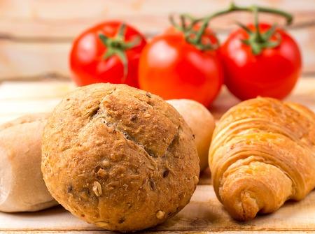 stuff: Organic Rolls Indicating Food Stuff And Freshness