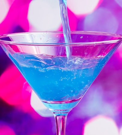 bartending: Blue Cocktail Meaning Celebration Alcoholic And Alcohol