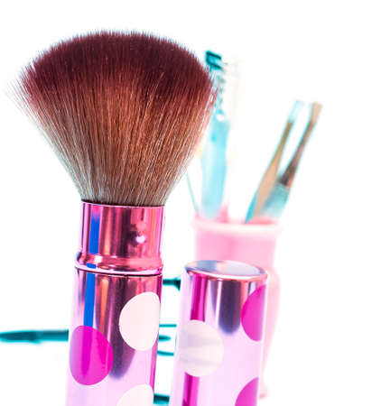 makeups: Makeup Foundation Brush Representing Beauty Products And Facial