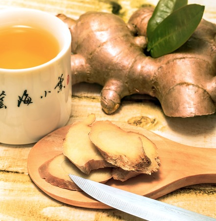 Fresh Ginger Tea Meaning Refreshes Refreshed And Refreshment