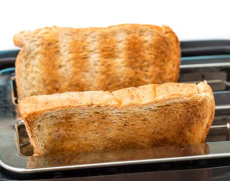 toasted: Toasted Bread Meaning Breakfast Toasts And Breaks Stock Photo