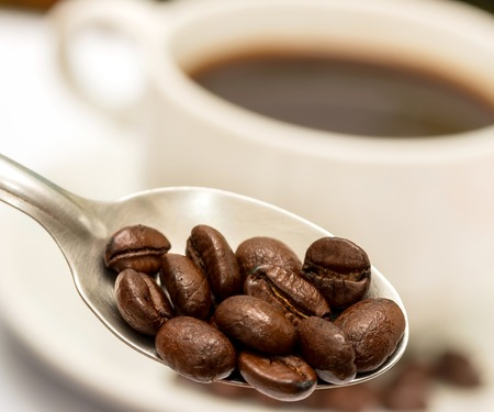 aromatic: Coffee Beans Indicating Hot Drink And Aromatic