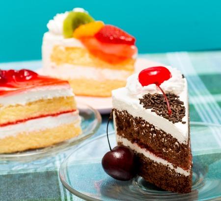 gateau: Black Forest Gateau Representing Cream Cake And Dessert