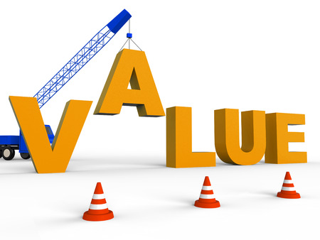 valued: Build Value Meaning Worth Prices 3d Rendering