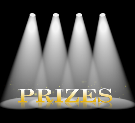 Prizes Spotlight Meanings Win Contest 3d Rendering
