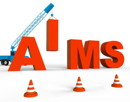aspirational: Make Aims Indicating Aspiration And Purpose 3d Rendering